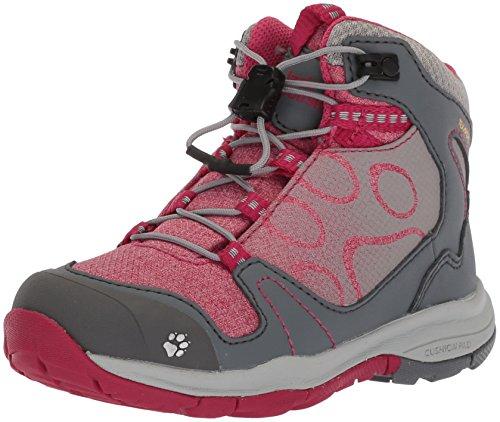 (Jack Wolfskin Girls' GRIVLA Texapore MID G Hiking Boot, Azalea red, US Toddler 10 M US Toddler)