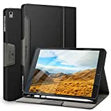 Antbox iPad Case for iPad Pro 9.7/ iPad Air/iPad Air 2 with Built-in Apple Pencil Holder Auto Sleep/Wake Function PU Leather Smart Cover (Black)