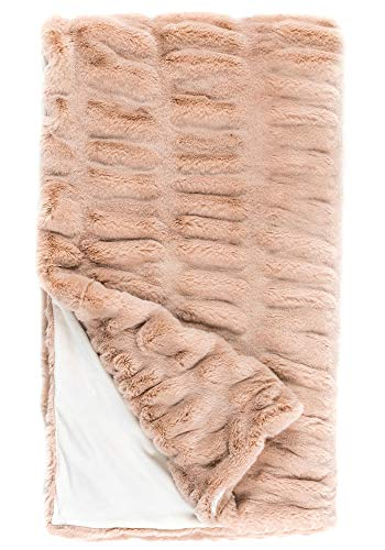 Donna Salyers Faux Fur Throw Blanket - Rose Mink (60X86) -  Fabulous-Furs