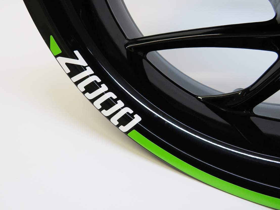 Bike Label 710022 Felgenrand Aufkleber Z1000 Analog Kawasaki Grün Auto