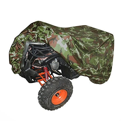 Universal All Weather ATV Cover, Waterproof Dust Sun Wind Proof Outdoor ATV UV Cover, Durable Quad Storage Protection for Honda Polaris Yamaha Suzuki (Camo, XL) (Gas Mask Tube Hose compare prices)