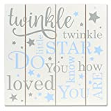 Lawrence Frames 9x9 Distressed White and Blue Wood Panel Sign Twinkle