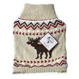 Outdoor Dog Moose Sweater - Cream (10 Pack)