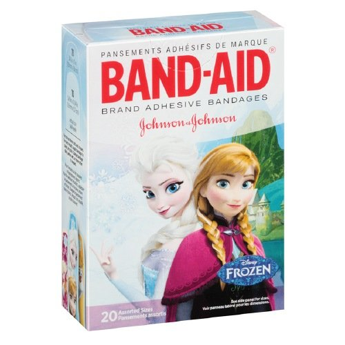 Band-Aid Adhesive Bandages, Disney's Frozen, Assorted Sizes Pack of 6 -