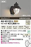 コイズミ照明 防雨型ブラケット人感センサ付(白熱球60W相当)透明ガラス AU43155L