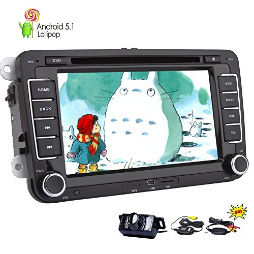 7 inch Quad Core Android 5.1 Lollipop Car Stereo Radio Capac