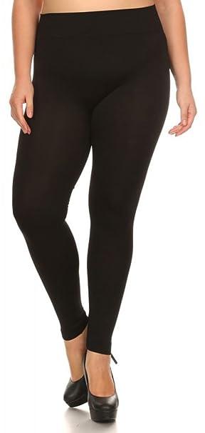 d91d9c7f0c0 ShoSho Women's Plus Size Seamless Legging- Stretch Fabric at Amazon ...