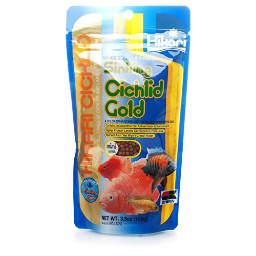 Hikari Cichlid Gold Sinking Mini Pellets, diet for Cichlids & tropical fish 100g