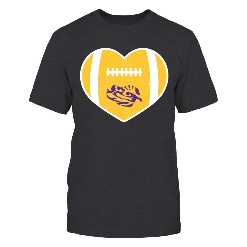 FanPrint LSU Tigers T-Shirt Heart OfFootball T-Shirt Tank