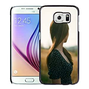 Popular And Durable Designed Case For Samsung Galaxy S6 With Long Hair Girl In The Wild Phone Case