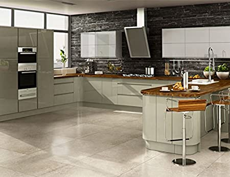Nice CK Kitchens Highgloss Painted Kitchen,u0027Welford Greyu0027 Multiwood Range,Rigid  Built Kitchens