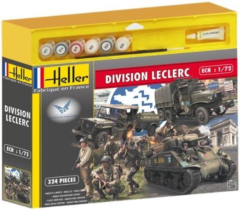 Heller - 53006 - Maquette - Division Leclerc - M4a2 Sherman, Gmc, Jeep, Figurines - 324 Pièces