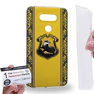 Case88 [LG G5] Gel TPU Carcasa/Funda & Tarjeta de garantía - Harry Potter & Hogwarts Collections Hogwarts Hufflepuff Sigil 0556