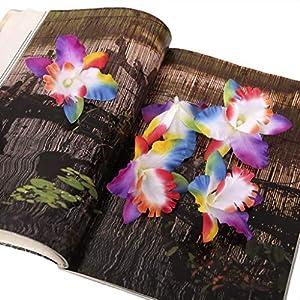 20x Colorful Fake Silk Orchid Dendrobium Flower Head Wedding Bridal Decor 119