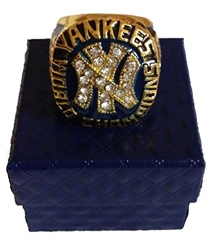 YIYICOOL Father's Day World Series New York Yankees Derek Jeter Championship Ring Size 11 Gifts Men Fans (1977 NY (Yankees Fan Series)