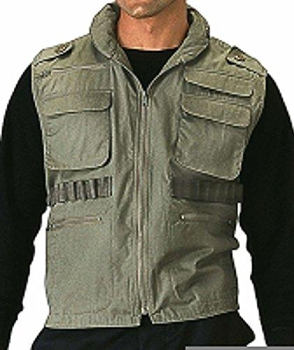 Vintage Ranger Vests Camo Versatile Military Tactical Outdoor W/Hood S-2Xl - Camo Ranger Vest