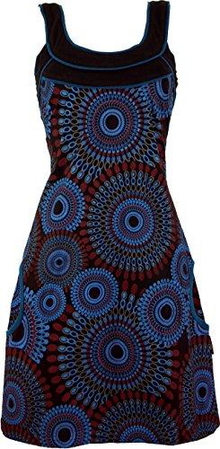 Boho Minikleid Alternative Alternative Baumwolle Schwarz Guru Shop Chic Bekleidung Hippie Blau Damen Tunika Kurze Kleider FwxtXtqES