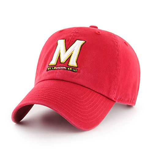 OTS NCAA Adult Women's Challenger Adjustable Hat Maryland Terrapins, One Size, Red