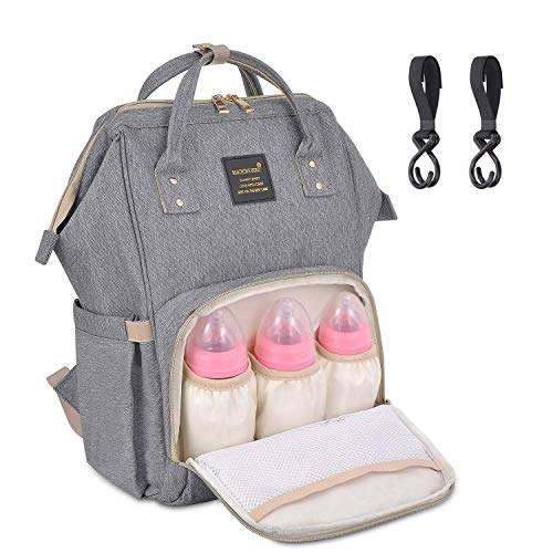 Backpack Baby Diaper Bags, EXCPDT Waterproof Mummy Dad Backpack Maternity Baby Nappy Changing Bags with Stroller Hooks for Mom Women,Large Capacity, Stylish and Durable ()