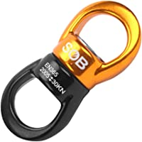 BAOBLADE 30KN Rotational Device Climbing Safety Swivel 360° Rotator for Web Tree Swing Rope Hammock