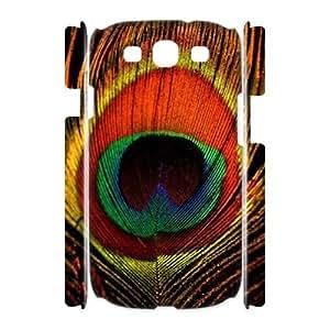 DIY Peacock 3D Cover Case for SamSung Galaxy S3 i9300, DIY Peacock 3D S3 Phone Case, DIY Peacock 3D i9300 Cell Phone Case WANGJING JINDA