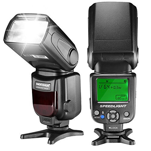 Neewer NW620 Manual Flash Speedlite with LCD Display for Canon Nikon Panasonic Olympus Pentax and Other DSLR Cameras Such as Canon7D Mark II 5D Mark II III IV 1300D Nikon D7200 D7100 D7000 D5500 D5300の商品画像