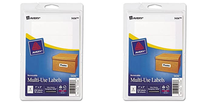 Amazon Avery Removable Printwrite Labels 1 X 3 Inches White