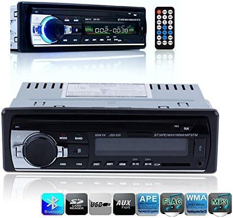 ELEAR™カーラジオブルートゥースステレオ1 Dinヘッドユニット 高解像度 LCD ディスプレイ付きダッシュ MP3/USB/SD/AUX/FM Iphone 用