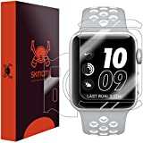 Apple Watch Nike+ Screen Protector + Full Body (42mm), Skinomi TechSkin Full Coverage Skin + Screen Protector for Apple Watch Nike+ Front & Back Clear HD Film - with