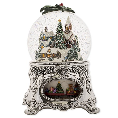 MusicBox Kingdom 56058-Snow Globe ''Winter Village'' with The Melody ''Winter Wonderland'' by Musicbox Kingdom
