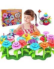 مجموعة ألعاب بناء حديقة الزهور من هابي تايم - 148 قطعة من مجموعة ألعاب بناء باقة الزهور، كتل الحدائق التظاهر، ألعاب تعليمية إبداعية للحرف اليدوية للأطفال 3، 4، 5، 6، 7، 8 سنوات، الأطفال الصغار والبنات