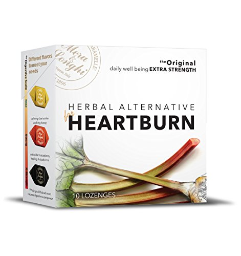 Natural HEARTBURN Relief - Herbal Candy Digestive Lozenges - ON SALE - 8 BOXES - EXTRA STRENGTH - Rhubarb