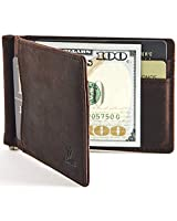 Travel Wallet RFID Blocking Bifold Slim Genuine...