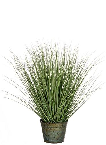Sullivans 0574POT Decorative Bushy Potted Grass Decorative Artificial Potted, Plant Green, 30 x 38 - Ornamental Silk