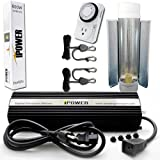 iPower 600 Watt HPS Digital Dimmable Grow Light System Kits Cool Tube Reflector Set Add-on Wing