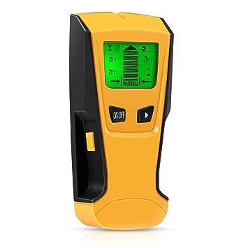 Detector de Pared,ZOTO 3 en 1 LCD Multifuncional Pared Detector de Metal Detección de cable de Escáner de Pared con Metal Tuberías,Madera y AC Cable: ...