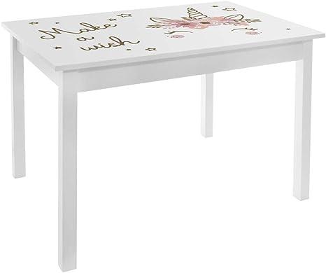 Atmosphera - Mesa de madera para dormitorio de niña (altura 48 cm): Amazon.es: Hogar