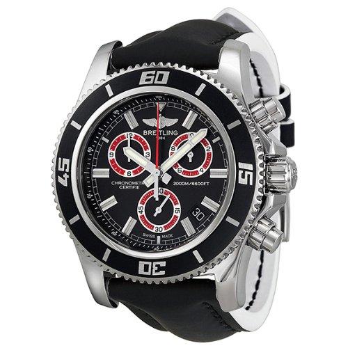 Breitling SuperOcean Chronograph M2000 Black Dial Stainless Steel Mens Watch A73310A8-BB72BKLT