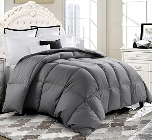 free shipping ROSECOSE Luxurious Medium Weight Goose Down Comforter Queen  Size Duvet Insert All Seasons ... 34b4ba04b