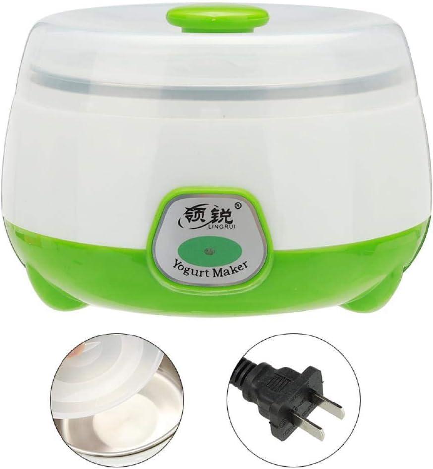 Yogurt Maker Machine Elettrico Automatico Yogurt Di Alta Qualità Contenitore In Acciaio Inossidabile Strumento Fai Da Te Tazza Verde Pink