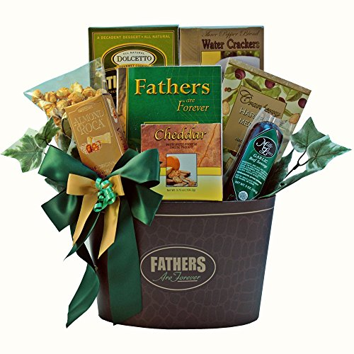Keepsake Package (Fathers Are Forever Gourmet Food Gift Basket with Keepsake Book)