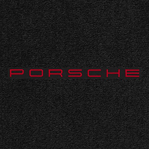 Lloyd Mats - Ultimat Black Front Floor Mats for Porsche 944 1983-91 with Red Porsche on Black Applique
