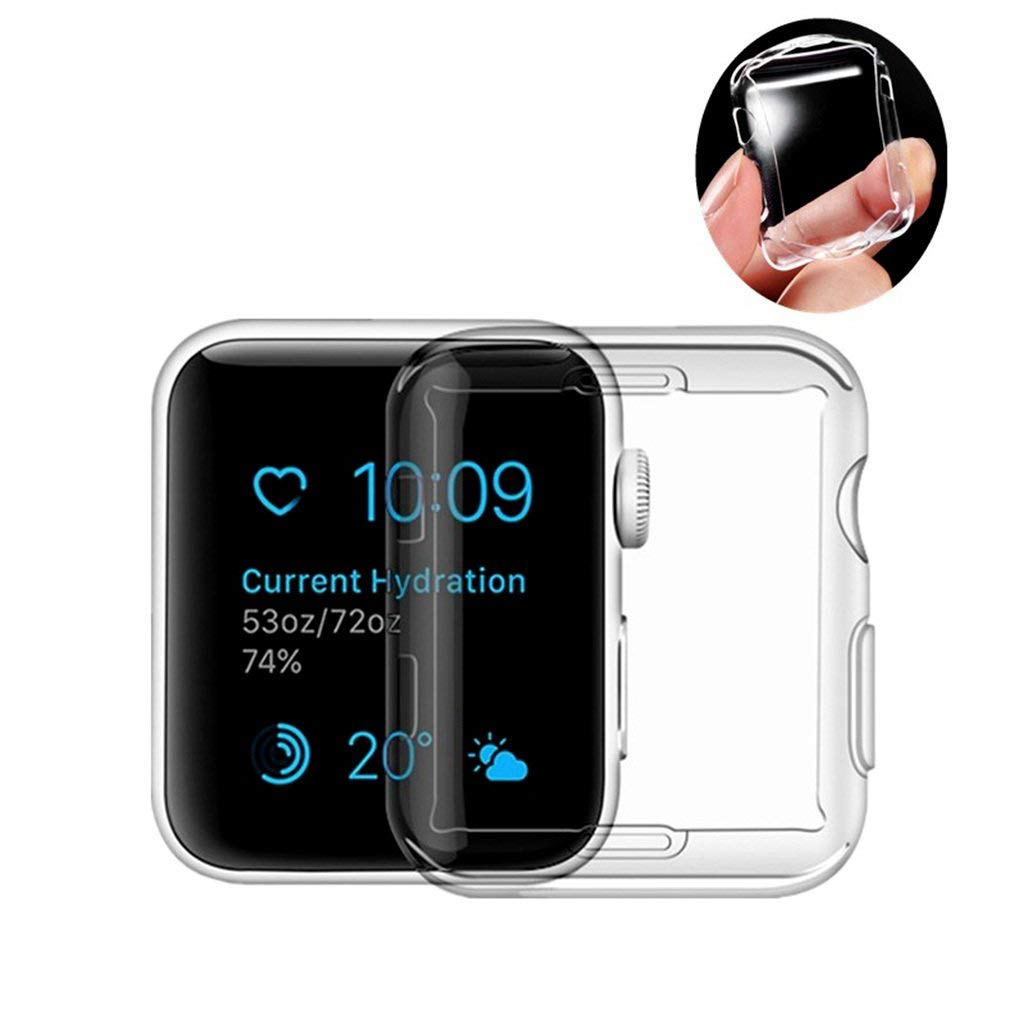 For Apple Watch Screen Protector 38mm | Soft TPU Iwatch Case | Full Cover Protection Ultra-Thin Clear Cover For Apple watch Series 3 2 by Kwartz (Image #1)