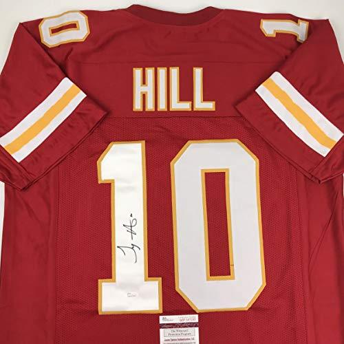 Autographed/Signed Tyreek Hill Kansas City Red Football Jersey JSA COA