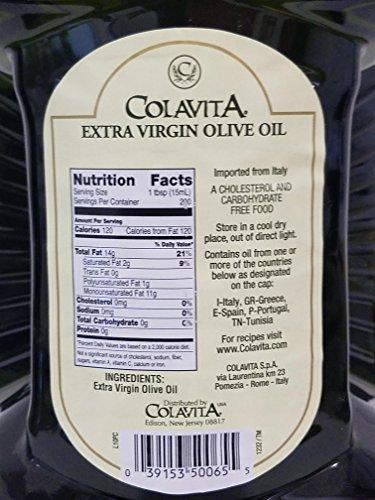 Colavita Extra Virgin Olive Oil (3 Liter), 101.4 fl ounce by Colavita (Image #3)