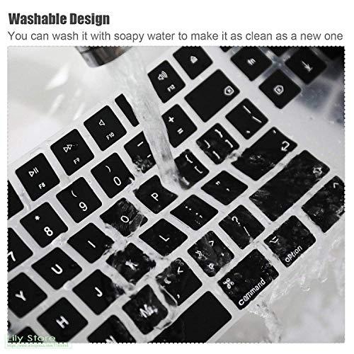 Saco Chiclet Keyboard Skin for HP 15s - du1034tu 15.6-inch Laptop -Black