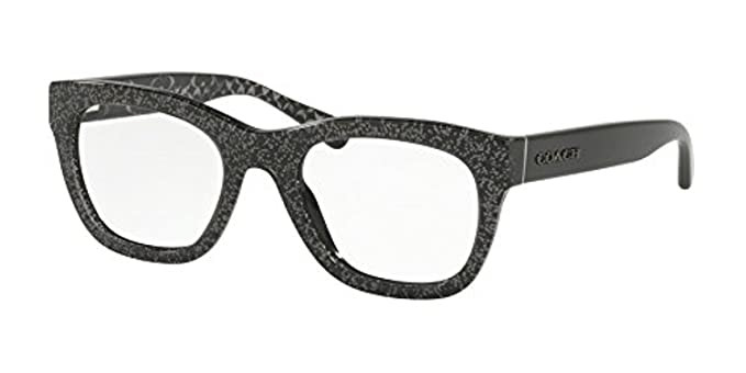 07fc1cd6a36f Eyeglasses Coach HC 6115 5505 BLACK CHUNKY GLITTER at Amazon Women s  Clothing store