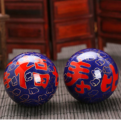 Chinois Traditionnel Ballon De Fitness Décompression Handball Bleu Longévité 50mm450g