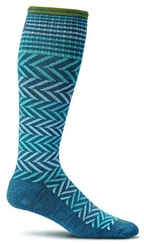Sockwell Women's Chevron Graduated Compression Socks, Teal, ()