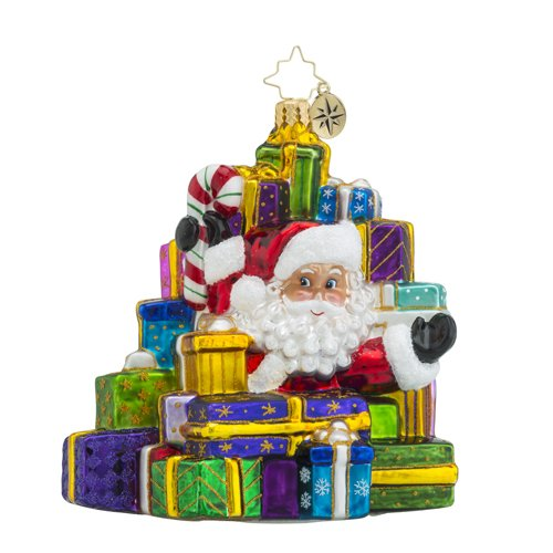 Christopher Radko Lots to Deliver Santa Claus and Presents Christmas Ornament - Radko Presents